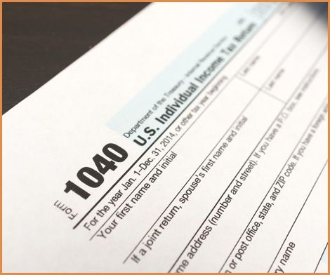 tax form close-up